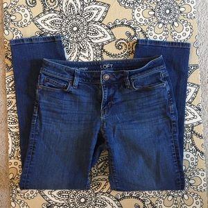 LOFT Curvy Straight Fit Jeans